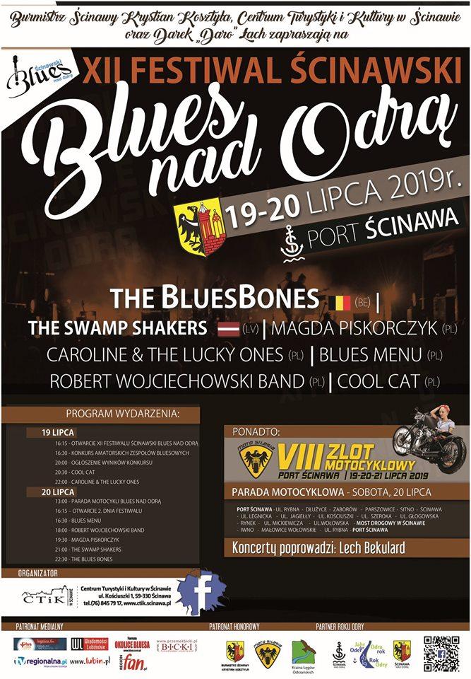 plakat Ścinawski Blues nad Odrą 2019
